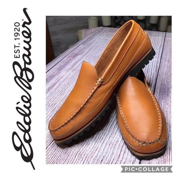 EDDIE BAUER Leather Cognac Loafer/Driving Moccasin